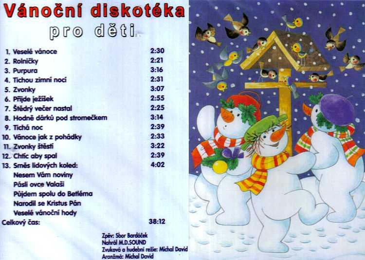 Vánoèní diskotéka pro dìti - sbor Bardáèek CD