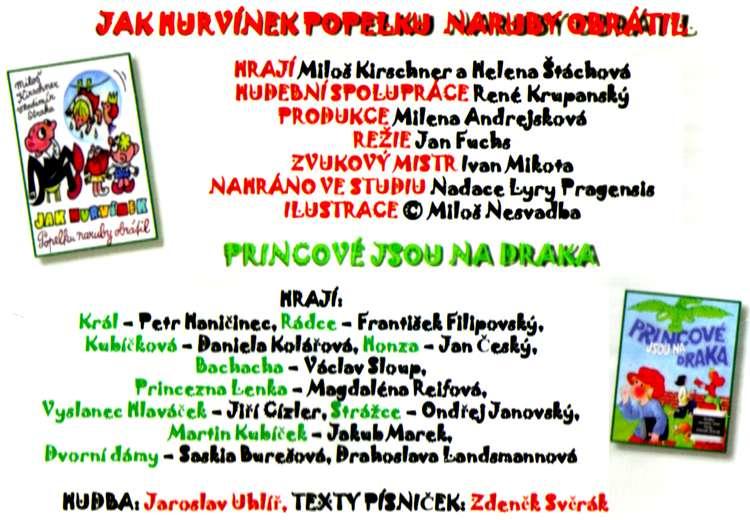 Princové jsou na Draka + JAK HURVÍNEK Popelku naruby obrátil 2 CD