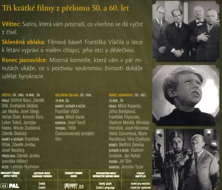 Vìštec + Sklenìná oblaka + Konec jasnovidce DVD