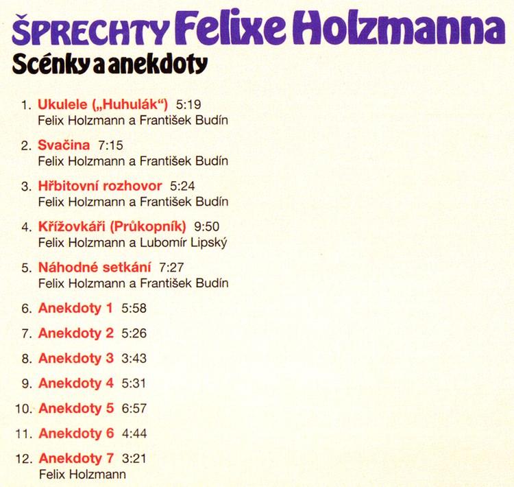 Šprechty Felixe Holzmanna CD