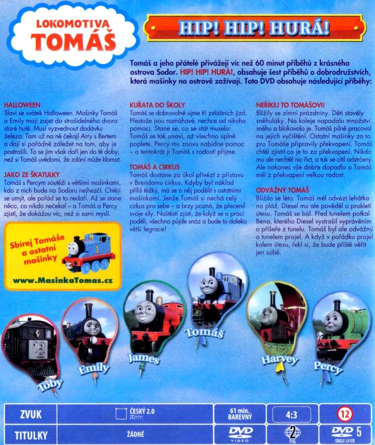 Lokomotiva Tomáš DVD 2 Hip! Hip! Hurá!